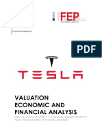 Tesla financial analysis