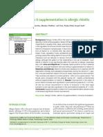 Role of Vit d in Alergic Rhinitis