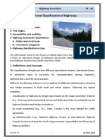 Lec 01 Highway Engineering - Highway Classification