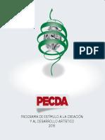 Programa de Estímulo a la Creación y al Desarrollo Artístico 2016