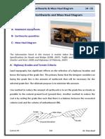 Lec 09 Highway Engineering - Earthworks & Mass Haul Diagram