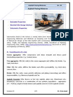 Lec 15 Highway Engineering - Asphalt Paving Mixtures