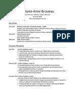 melanie-anne brosseau education resume pdf