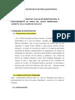 PLAN DE MARKETING GRUPO LEONCITO