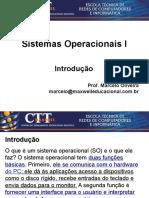 Sistemas Operacionais - Aula 1 - Introducao