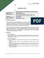 Programa Formulación y Evaluación de Proyectos 2016