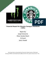 financialreportformonsterenergy docx