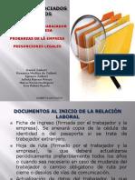 Presentación Sobre Expediente Laboral Pruebas y Presunciones de Ley