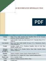 Tema. Resursele de Substanţe Minerale Utile, Cl. Xi