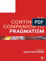 The Continuum Companion to Pragmatism Edited by Sami Pihlström