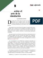 La Jornada- Educación- El Arte de La Simulación