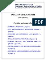 Practice Test Paper(Executive)-1