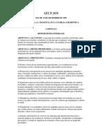 Ley N 1674 de Violencia Contra La FAmilia