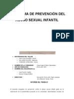 Informe Del Programa de Prevencion
