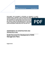 Guide Document for Development of WHS Management Plans