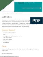 Arduino - Calibration