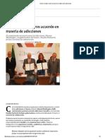31-01-16 Suma Conadic nuevo acuerdo en materia de adicciones - Excelsior