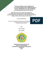 Pengaruh Manajemen Aset Terhadap Total Pemanfaatan Aset Daerah Dan Implikasinya Terhadap Pendapatan Asli Daerah