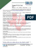 Especificaciones TI CX CAS