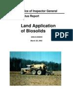 Epa Inspector General 2002 Biosolids_final_report