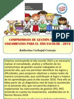 6 Compromisos de Gestion Escolar Para El 2016