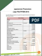 Transparencia Caja FEUTFSM ( Octubre - Diciembre )