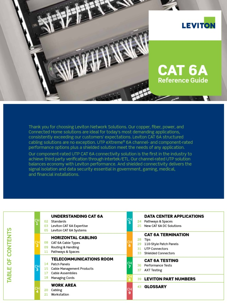 Cat6 Vs Cat6a Manual Guide