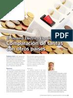 El Sistema Electrico Espanol IV Comparacion Tarifas Con Otros Paises