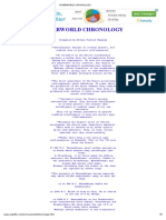 Riverworld Chronology