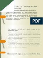 5.2.CONDUCCION DE PRESENTACIONES ORALES Y ESCRITAS