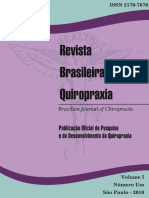 Revista Brasileira de Quiropraxia Vol 1 n 1