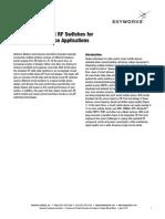 RF SwitchesForSmartMobileDeviceApplications