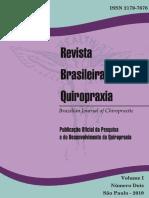 Revista Brasileira de Quiropraxia Vol 1 n 2