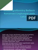 Agroforestry Berbasis Konservasi Lahan Miring