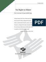 UUSC Covenant Groups - 5 Sample Water Gatherings