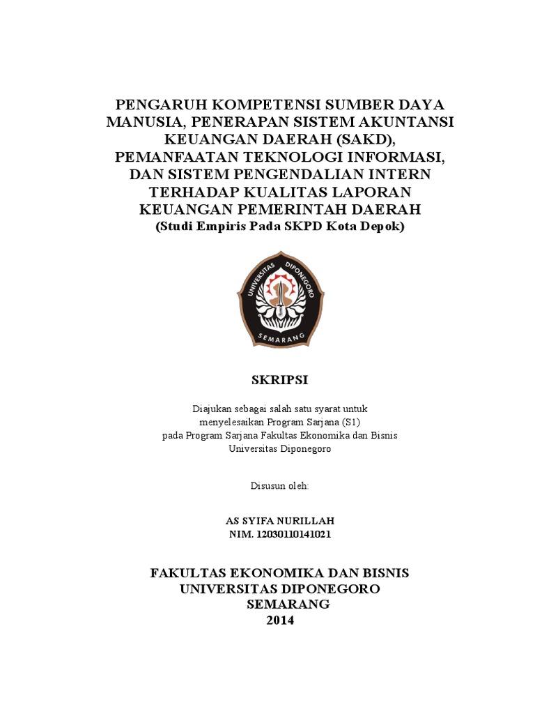 Contoh Skripsi Akuntansi Keuangan Daerah Contoh Soal Dan Materi Pelajaran 2