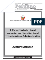 i Pleno Jurisdiccional en Materias Constitucional y Contencioso Administrativo (02!02!2015) - Prorroga Competencia