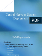 Central Nervous System Depressants. Anticonvulsants (Antiepileptic Drugs). Antiparkison Drugs.