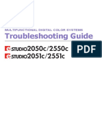 E-Studio 2550c - Troubleshooting Guide