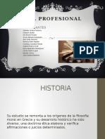 Etica Profesional Diapositivas