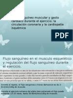flujo sanguineo muscular y gasto cardiaco