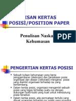 Position Paper (Kertas Posisi)
