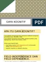 Gaya Kognitif ( FI vs FD/ Habits of Mind)