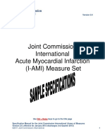 JCI I-AMI-1 ASA on Arrival Specifications SAMPLE 2012