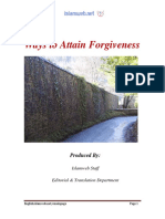 Ways to Attain Forgiveness