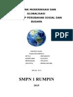 Dampak Modernisasi Dan Globalisasi
