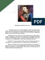 Biografie Alexandru Ioan Cuza