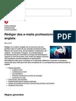 Rediger Des e-Mails Professionnels en Anglais