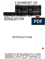 Establishment of a Policy Development Process at The