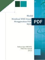 Modul Membuat WEB Dinamis Menggunakan PHP